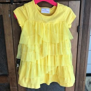 Hanna Andersson Yellow Tulle Dress Size 80